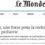 Le Monde 'Science & Medicine' interviews Prof. Régis Hankard of Pedstart